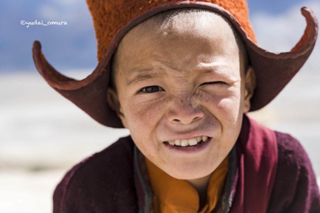 A little monk in Zanskar -got prize of Nikkor photo contest 1/4-